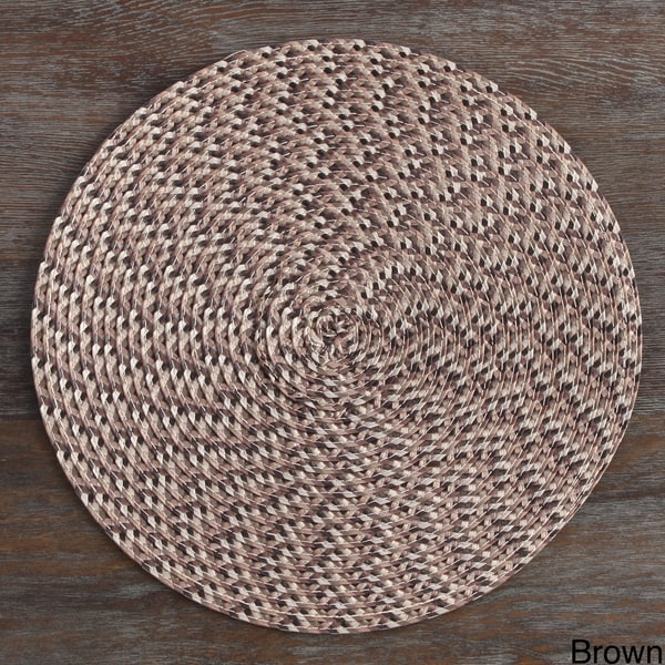 Wide Tail Multi Color Round Placemat (Set of 4)