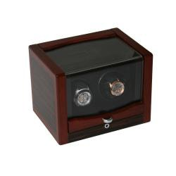 Rocket Matte Wood Double Watch Winder - Thumbnail 1
