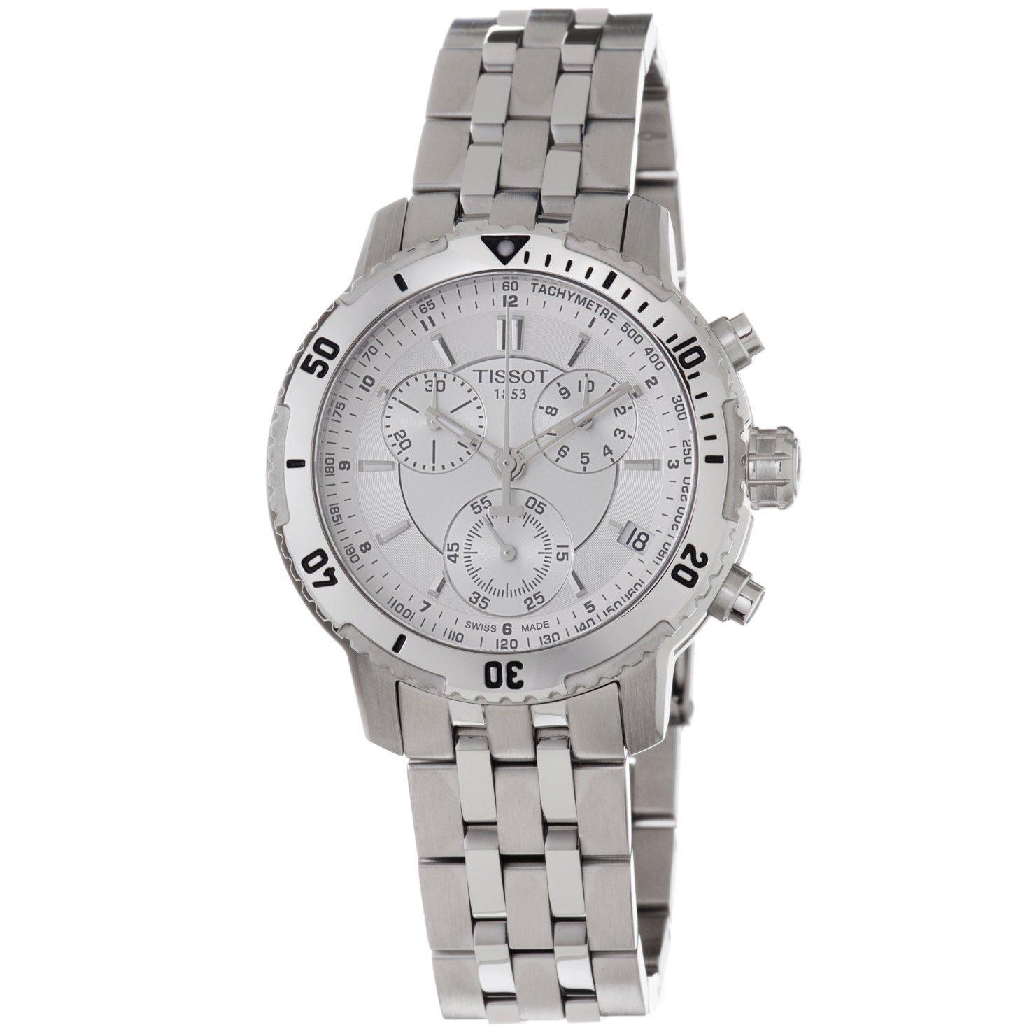 Tissot Men's T0674171103100 PRS-200 Silver Chronograph Watch