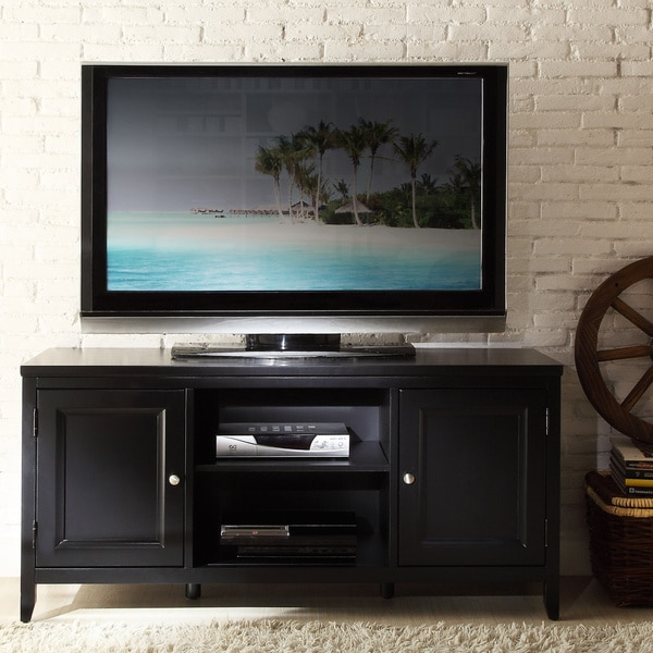 TRIBECCA HOME Roslevan Black 2-door 50-inch TV Media Stand