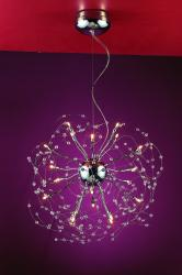 Medusa 20-Light 23-inch Polished Chrome Crystal Adjustable Hanging Pendant