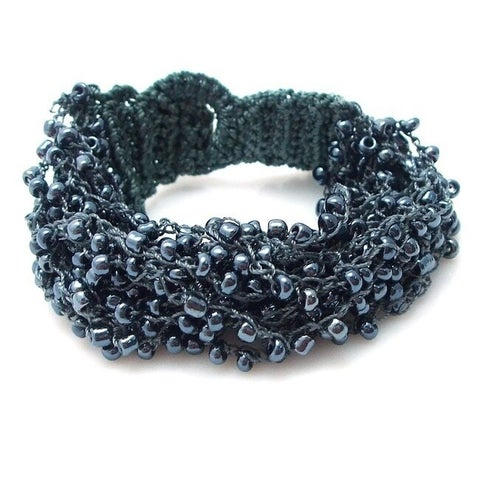 Handmade Multi Strand Streamers Multi Color Beads Toggle Bracelet (Philippines)