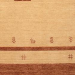 Indo Hand-loomed Ivory/ Brown Gabbeh Wool Rug (8' x 10')