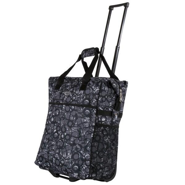Lightweight Calpak 'Big Eazy' 20-Inch Washable Rolling Shopping Tote Bag