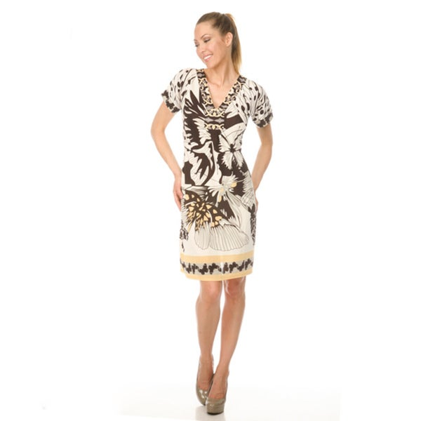 Women's White Mark 'Paris' Day Dress