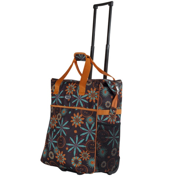 Calpak 'Big Eazy' 20-inch Washable Floral Rolling Shopper Tote