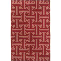 Hand-woven Winchester Brick Red Wool Area Rug (2' x 3') - Thumbnail 0