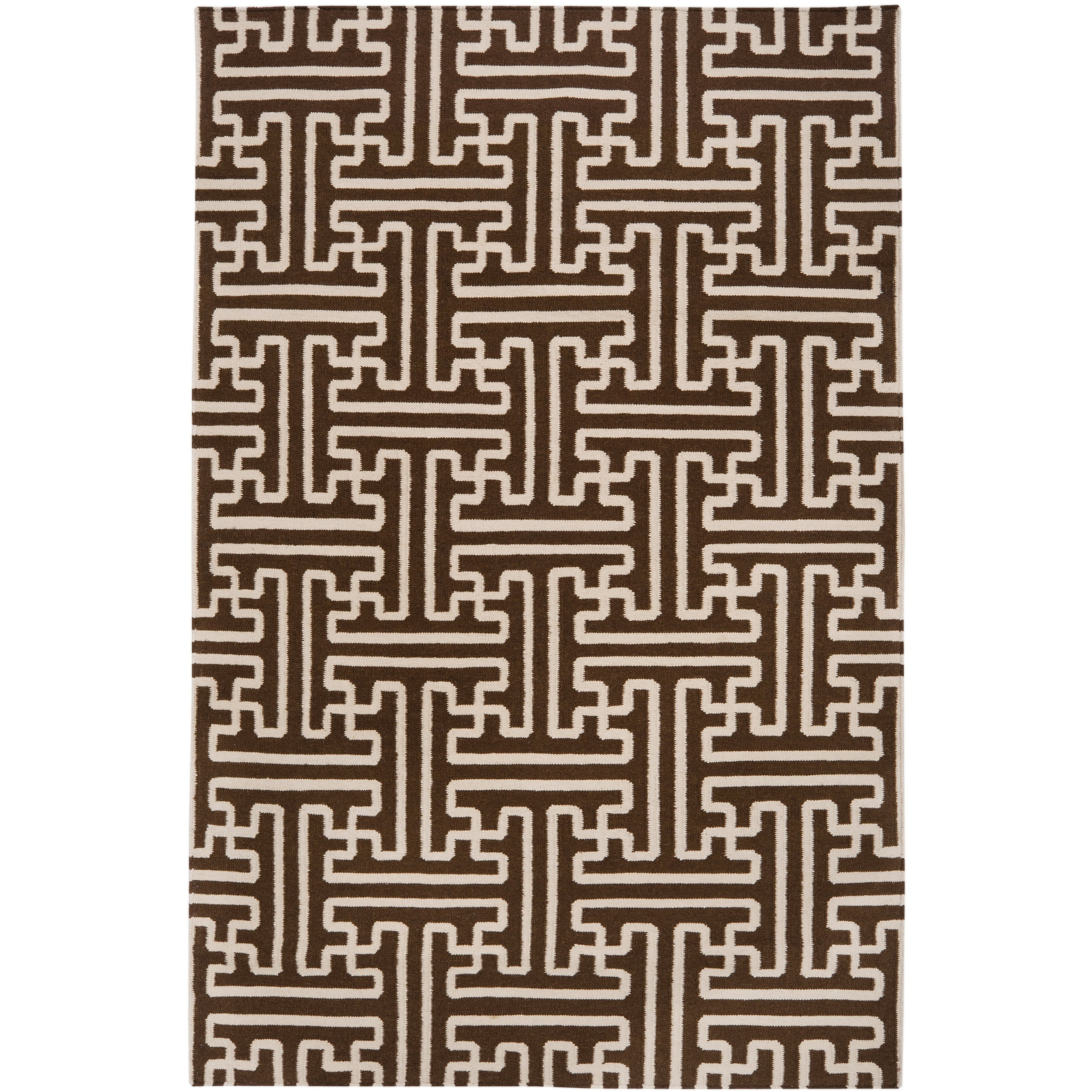 Hand-woven Scone Brown Wool Rug (2' x 3')