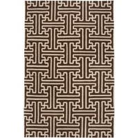 Hand-woven Scone Brown Wool Area Rug (2' x 3')