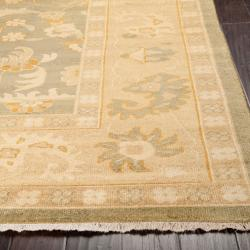 Hand-knotted Corte Multicolored New Zealand Wool Rug (9' x 13') - Thumbnail 1