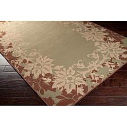Parana Russet Floral Border Indoor/Outdoor Rug (7'6 x 10'9) - Thumbnail 1