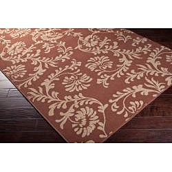 Mantua Russet Floral Indoor/Outdoor Rug (5'3 x 7'6)