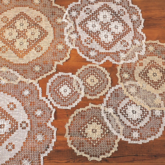 'Tuscany' Lace Doily (set of 4) or Placemat Set