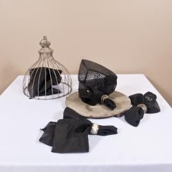 Linea Collection Organdy Black Placemat/Napkin Set - Thumbnail 1