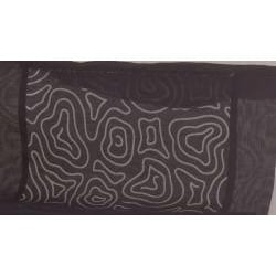 Linea Collection Organdy Black Placemat/Napkin Set - Thumbnail 2