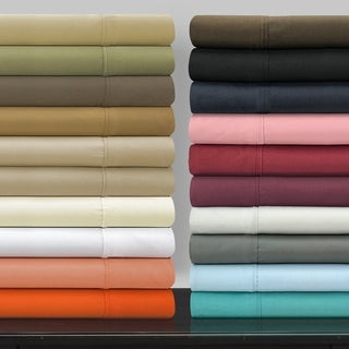Superior Microfiber Vibrant Solid Wrinkle Resistant Sheet Set