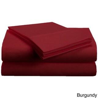 Superior Microfiber Vibrant Solid Wrinkle Resistant Sheet Set