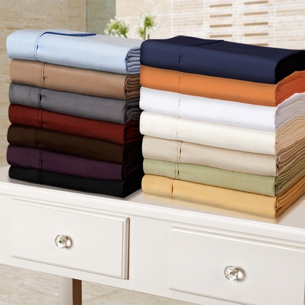 Superior Microfiber Solid Plain 100-percent Wrinkle-free Sheet Set