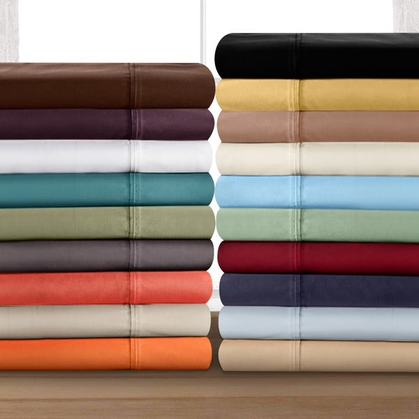 Superior Vibrant Microfiber Solid Plain 100-percent Wrinkle-free Sheet Set