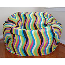 Outstanding Ahh Products 36 Inch Wide Wavelength Jelly Bean Cotton Washable Bean Bag Chair Overstock Com Shopping The Best Deals On Bean Lounge Bags Machost Co Dining Chair Design Ideas Machostcouk