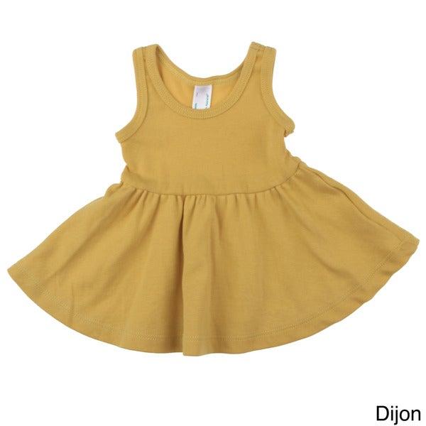American Apparel Baby Organic Rib Skater Cotton Tank Dress