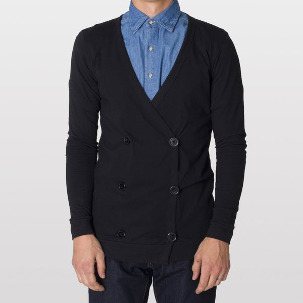 American Apparel Unisex Jersey Double-Breasted Cardigan
