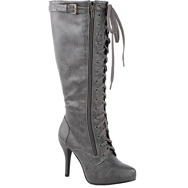 Modesta by Beston Women's 'Paris-02' Grey Knee-high Boots