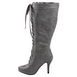 Modesta by Beston Women's 'Paris-02' Grey Knee-high Boots - Thumbnail 1