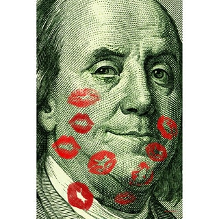 Maxwell Dickson 'Benjamin' Hundred Dollar Bill Canvas Wall Art