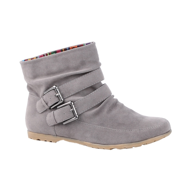 Modesta by Beston Women's 'Toto-01 Grey Ankle Boots - Free ...
