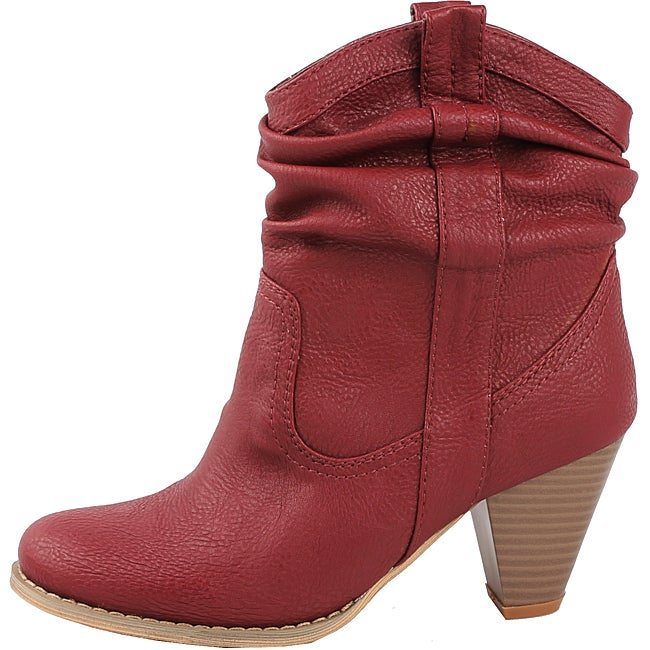 Modesta by Beston Women's 'Pedy-01' Burgundy Cowboy Boots