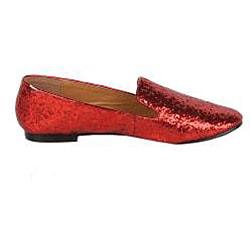 Modesta by Beston Women's 'Mika-02' Red Glitter Flats