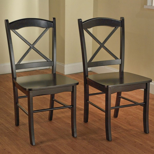 Simple Living Country Cottage Espresso Dining Chairs (Set of 2)