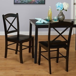 Simple Living Country Cottage Black Dining Chairs (Set of 2)