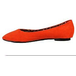 XICA by Beston Women's 'Jana-02' Orange Flats - Thumbnail 1
