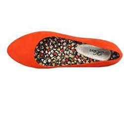 XICA by Beston Women's 'Jana-02' Orange Flats - Thumbnail 2