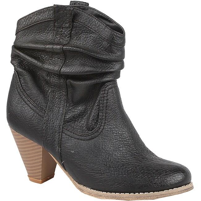 Modesta by Beston Women's 'Pedy-01' Black Cowboy Boots