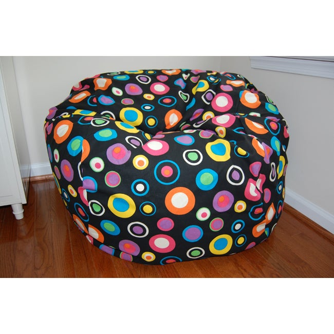 Ahh Products 36 Inch Wide Bubbly Jelly Bean Cotton Washable Bag Chair