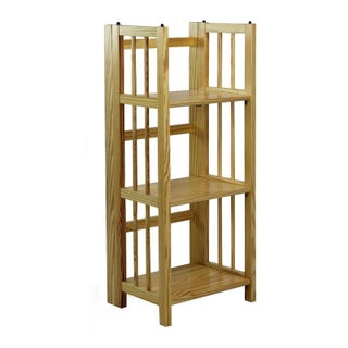 3-Shelf Folding 14-inch Wide Bookcase