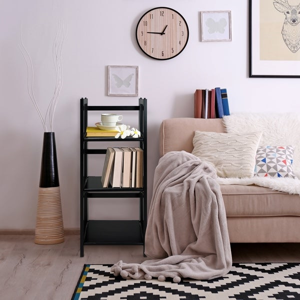 3shelf folding 14inch wide bookcase free shipping today