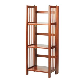 3-Shelf Folding 14-inch Wide Bookcase (5 options available)