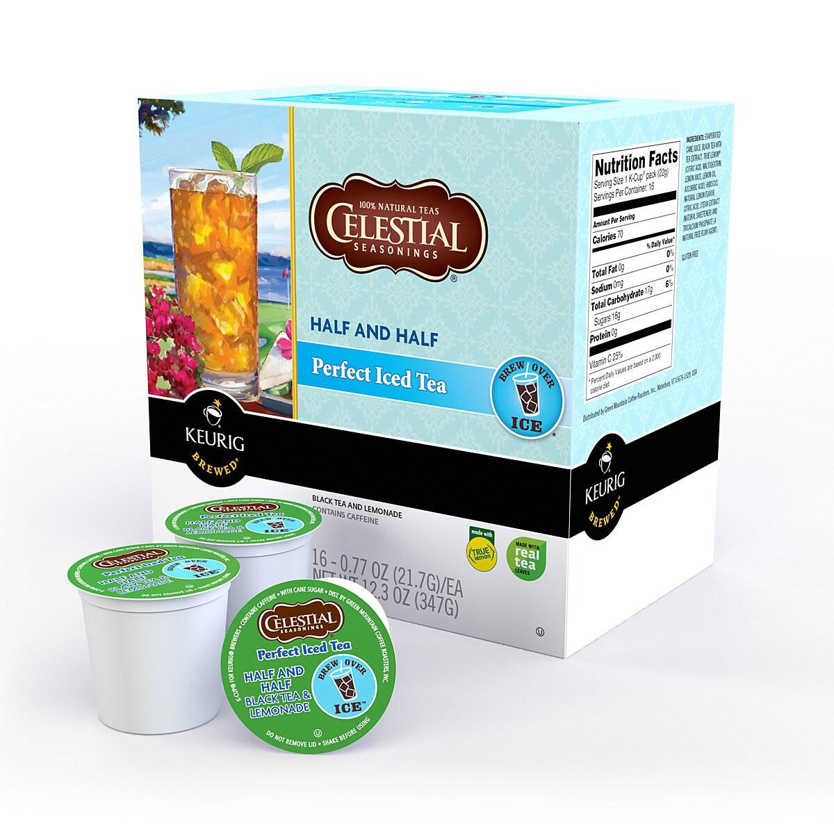Celestial Seasonings Half and Half Perfect Iced Tea K-Cups for Keurig Brewers (Case of 88)