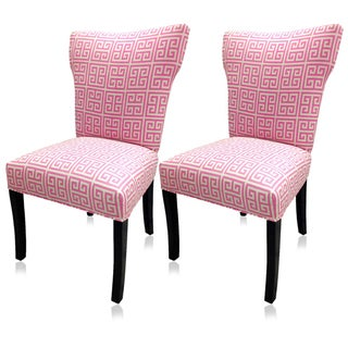 Sole Designs Pinky Chain Wingback Chairs (Set of 2)