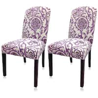Skyline Furniture Tufted Hourglass Dining Chair In Linen Lavender Free Shipping Today