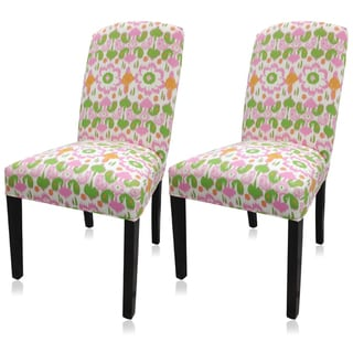 Sole Designs Daisy Flora Camelback Chairs (Set of 2)