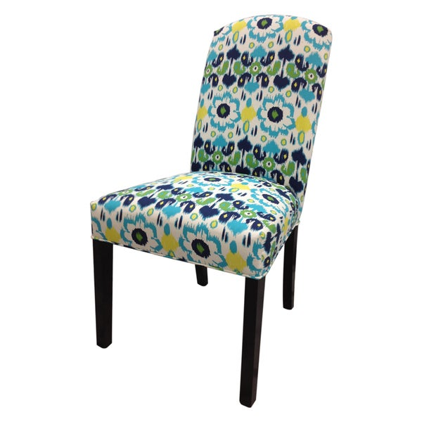 Sole Designs Blue Flora Camelback Chairs (Set of 2)