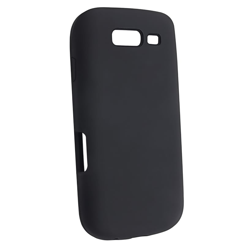 INSTEN Black Soft Silicone Skin Phone Case Cover for Samsung Galaxy S Blaze 4G T769 - Thumbnail 0
