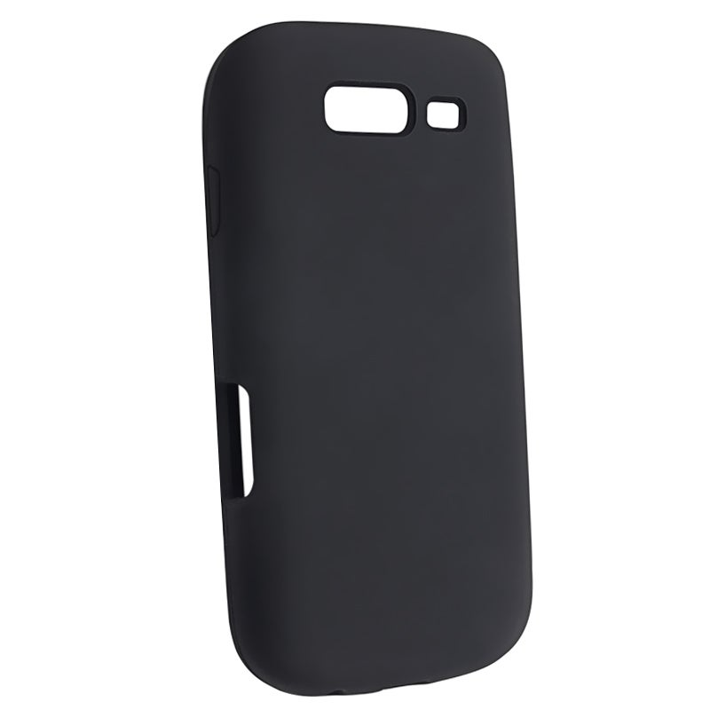 INSTEN Black Soft Silicone Skin Phone Case Cover for Samsung Galaxy S Blaze 4G T769