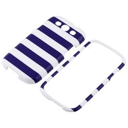 INSTEN Blue Stripe Snap-on Phone Case Cover for Samsung Galaxy S III