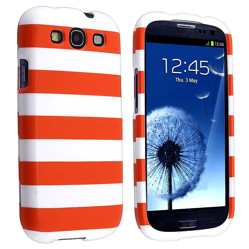 Orange Stripe Snap-on Case for Samsung Galaxy S III